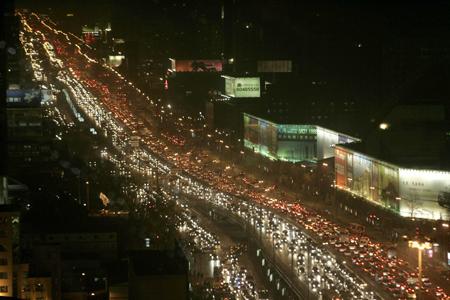 beijing rush hour traffic jam