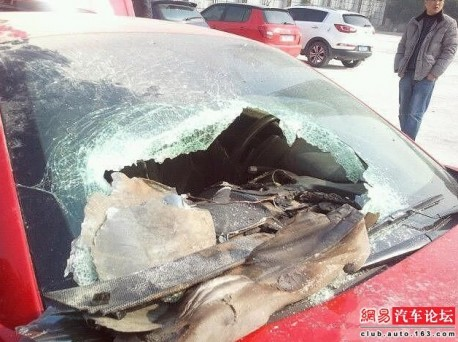 Ferrari California catches fire in China