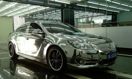 Buick Regal wrapped in Silver in China