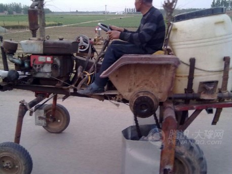 Chinese farmer invents new car