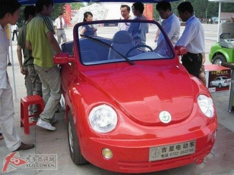 Fake Volkswagen Beetle from China