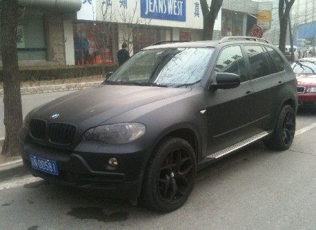 Matte Black Bmw >> Spotted In China Matte Black Bmw X5 Carnewschina Com