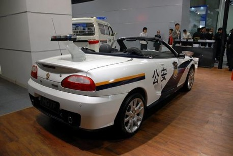 MG TF in China police car
