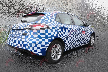 new MG5 testing in China