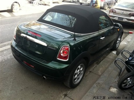 Mini Roadster testing in China