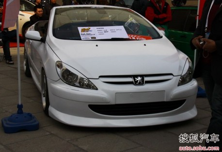 extreme tuning from china: peugeot 307 cc - carnewschina