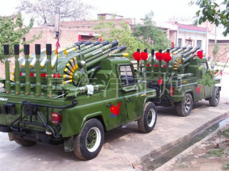 The Amazing Wedding-Firework cars from China