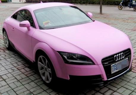 Audi TT pink china