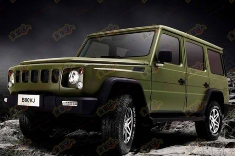 Beijing Auto B80V Mercedes-Benz G-class clone from China