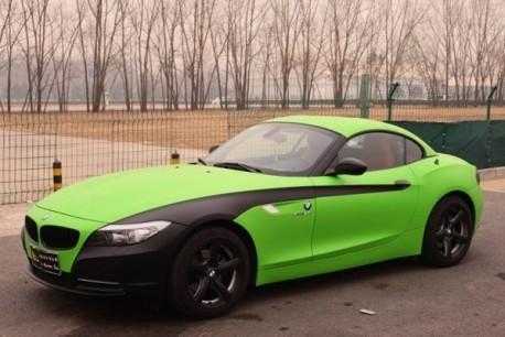 Bmw Green Car Lime-green Matte-black Bmw z4