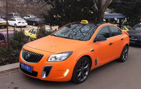 Buick Regal matte orange Taxi from China