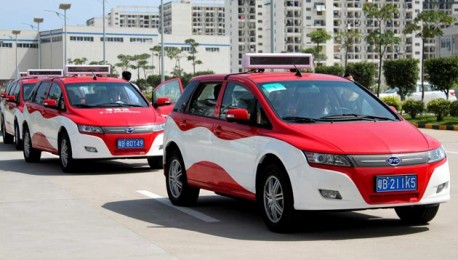 BYD e6 electric taxi