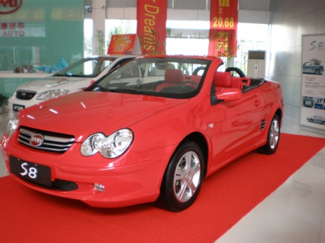 Pink BYD S8 CC from China