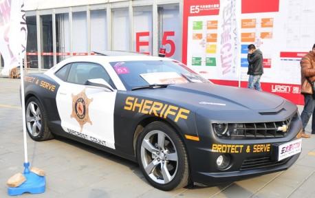 Chevrolet Camaro police car from China