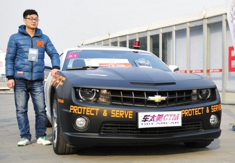 Chevrolet Camaro police car from China