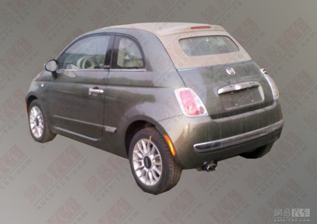 Fiat 500C testing in China