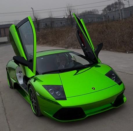 Lime Green Lamborghini 1