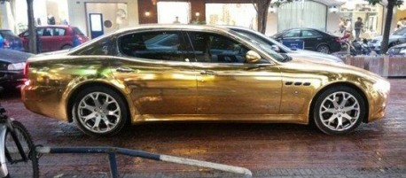 Maserati Quattroporte in Gold in China
