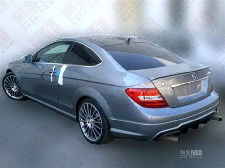 Mercedes-Benz C63 AMG Coupe testing in China