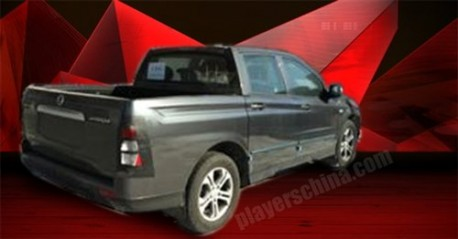 Ssangyong SUT-1 pickup truck testing in China