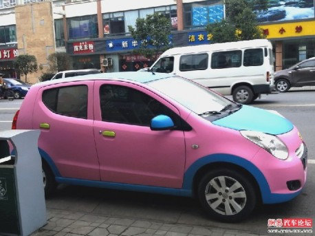 Pink Suzuki Alto China