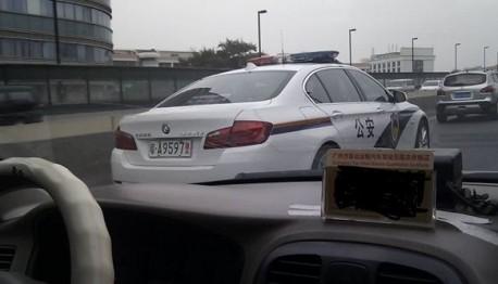 BMW police car China