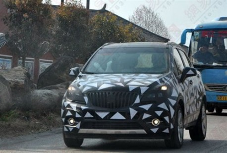 Buick Encore testing in China