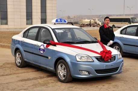Chang'an E30 electric taxi in Beijing