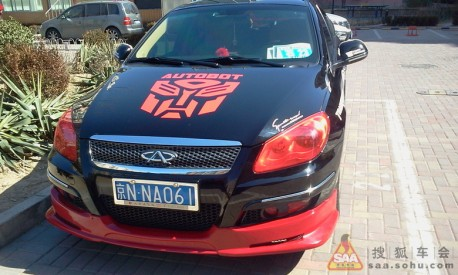 Chery A3 Police-Transformers Edition