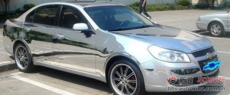 Chevrolet Epica in Chrome in China