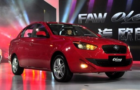 Production of the FAW Oley has started in China | CarNewsChina.com