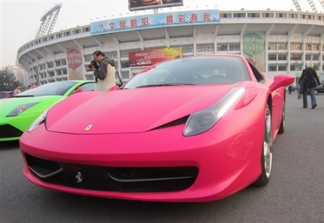 Pink Ferrari 458 Italia from China