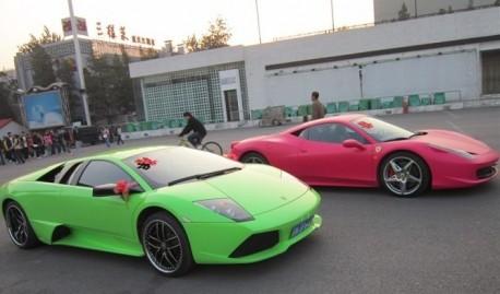 Pink Ferrari 458 Italia from China