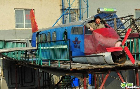 Farmer from China makes an airplane