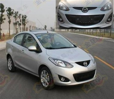 facelifted Mazda 2 China