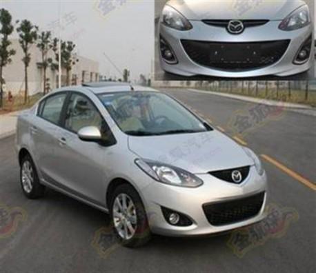 facelifted Mazda 2 China