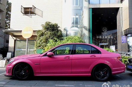 Mercedes-Benz C63 AMG in pink