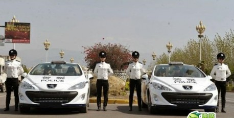 Peugeot 308CC police cars China