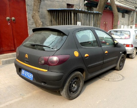 Citroen C2 in matte-black