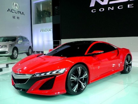 Acura Nsx Concept In Very Red For China Carnewschina