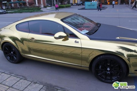 Bentley Continental Supersports in Gold and Black