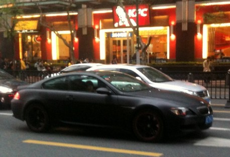BMW M6 Coupe matte black