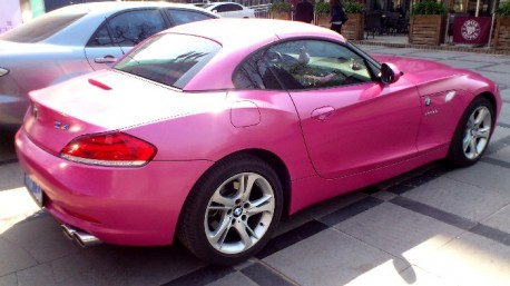 Pink BMW Z4 from China