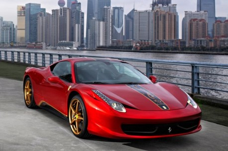 Special 'Dragon' Edition Ferrari 458 for China