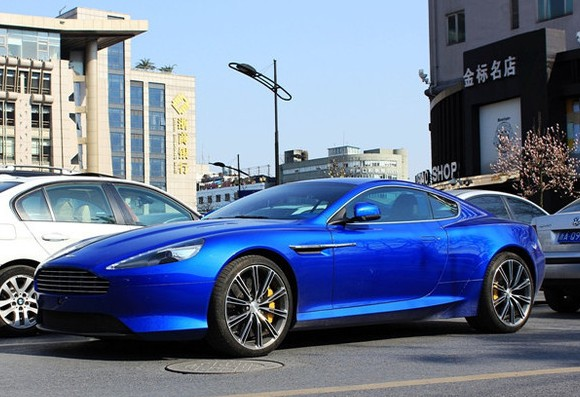 Spotted In China Aston Martin Virage In Blue Carnewschina Com