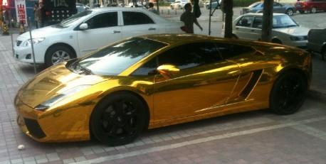 Lamborghini Gallardo in Gold from China