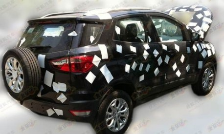 Ford Ecosport testing in China