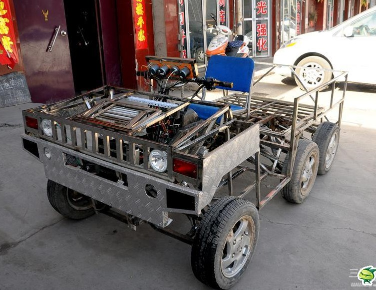 Man From China Makes Six Wheeled Hummer From Scratch