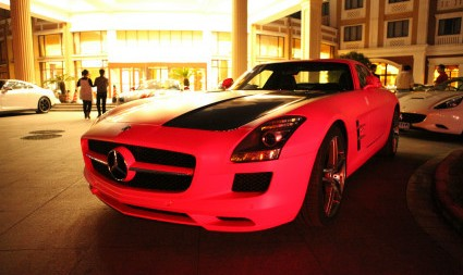 Pink Mercedes-Benz SLS AMG from China