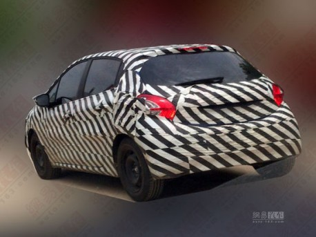 Peugeot 208 testing in China